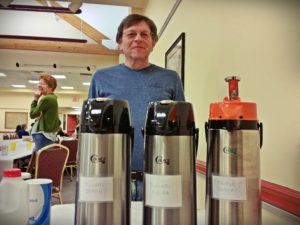 Jim Wurster stands behind our coffee
